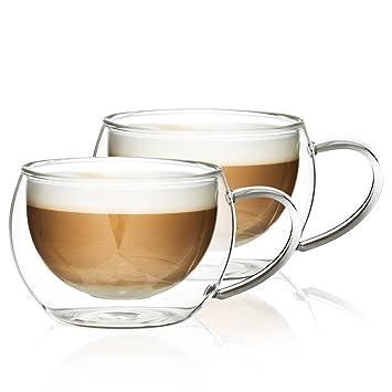 8 unidades Vasos de latte macchiato con cucharilla Ritzenhoff /& Breker 124200