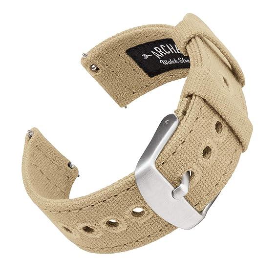 Archer Watch Straps | Correas Reloj Lona de Liberación Rápida para Hombre y Mujer | para Relojes y Smartwatch, 18mm, 20mm, 22mm