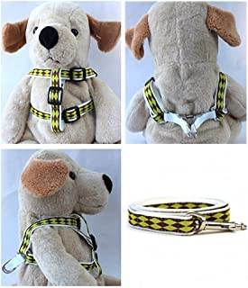 "product image for Diva-Dog 'Harlequin Lime' Custom 5/8"" Wide Dog Step-in Harness with Plain or Engraved Buckle, Matching Leash Available - Teacup, XS/S"