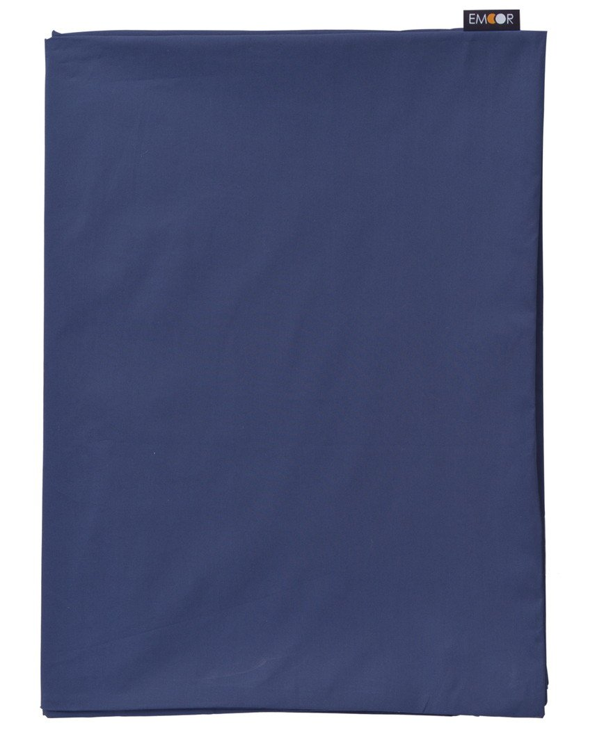 EMOOR Long Zabuton Cushion Cover, for Short Size 27x47in, 100% Cotton, EMOOR Color, Navy, Made in Japan