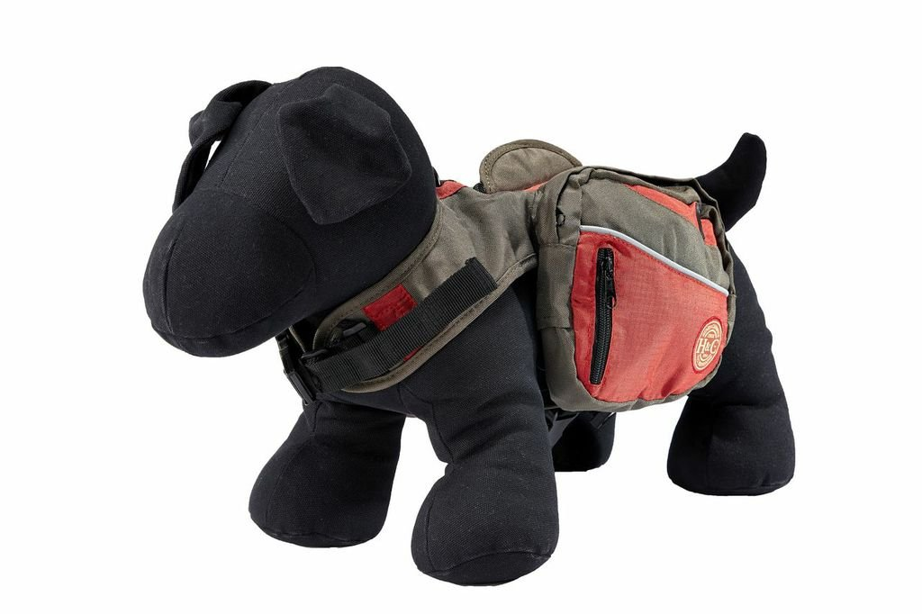 Henry and Clemmies Dog Backpack Small Red 329