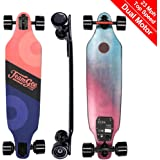 """teamgee H9 37"""" Electric Skateboard,23 MPH Top Speed, 10 Miles Range, 13 Lbs, Max Load 285 Lbs Longboard with Wireless Remote Control (Dual Motor)"""