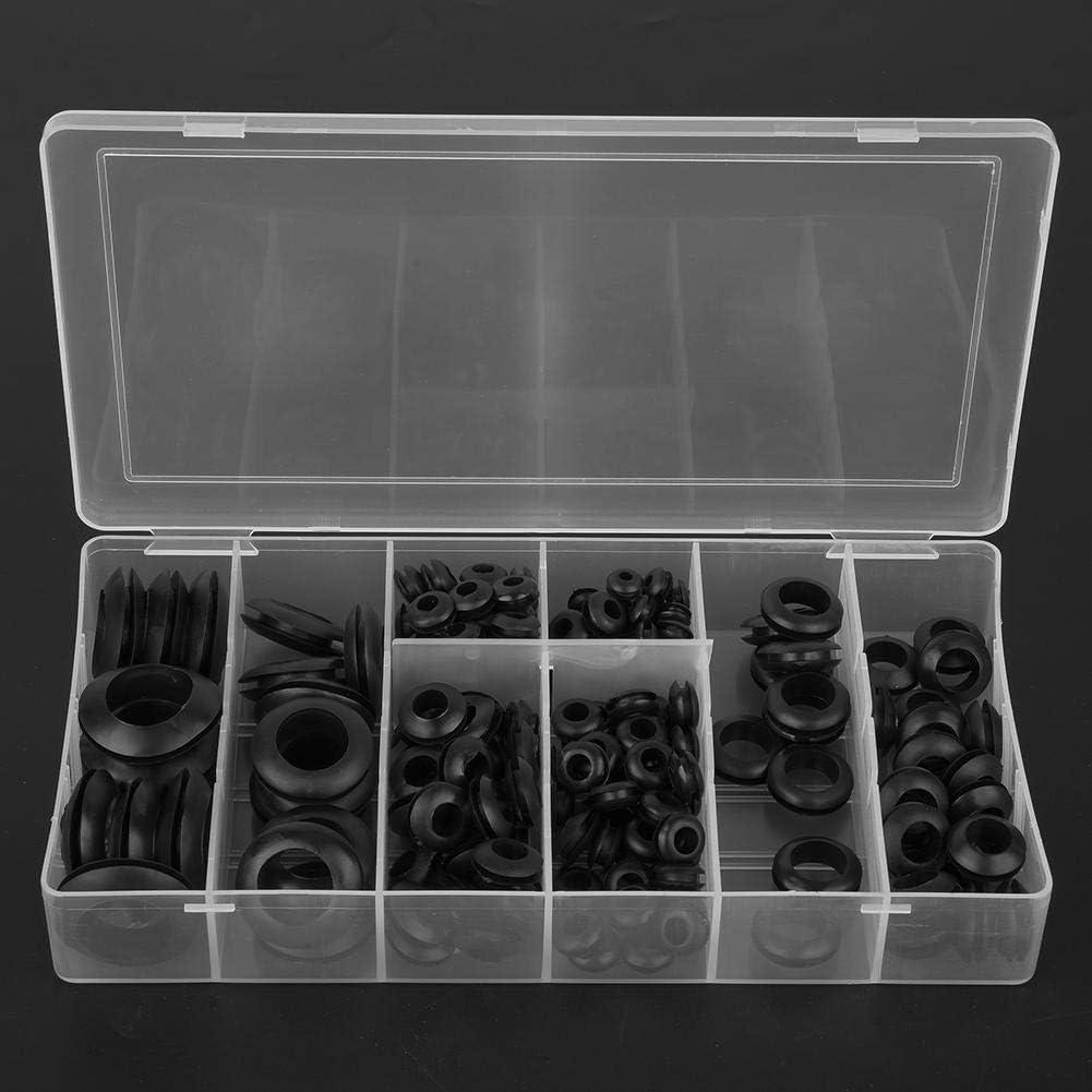 Tarente 200pcs Black 3//16//8//4//16//8//2//8//4 Rubber Grommet Sealing Ring Set