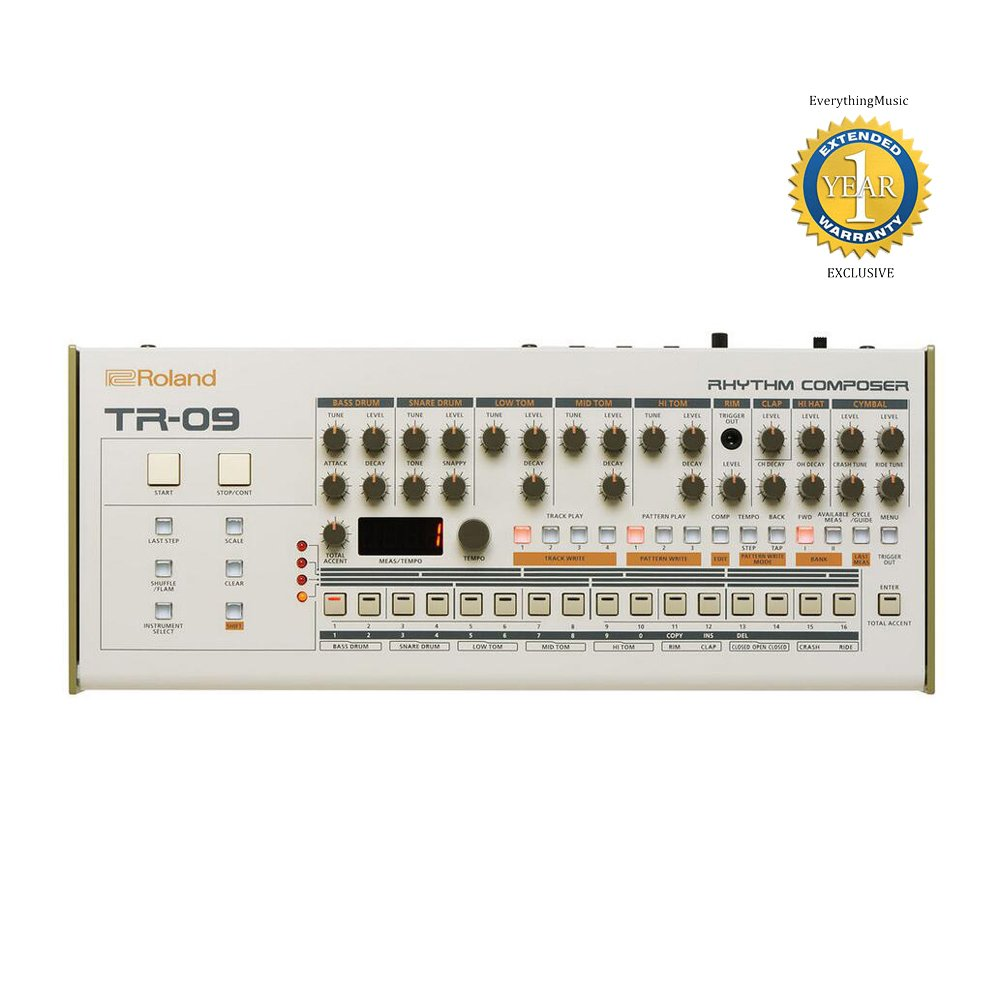 Roland TR-09 Boutique Rhythm Performer with 1 Year Free Extended Warranty