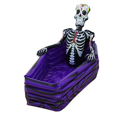 inflatable cooler drink ice bucket skeleton party beach pool swimming halloween christmasdecoration toys outdoor skull tableware