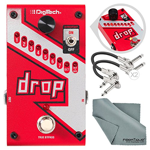 (DigiTech Drop Polyphonic Drop Tune Pitch-Shifter Pedal with Basic Accessory Bundle)