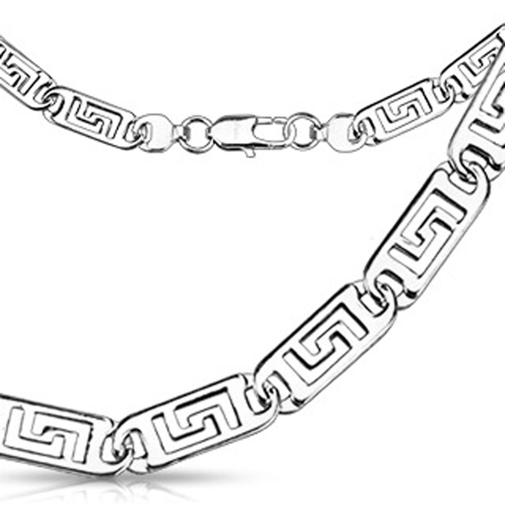 Jinique JSN-6077 Stainless Steel Flat Hollow Maze Engraved 24 Link Necklace; Select 1 Size