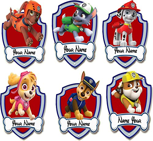 Paw Patrol characters, Skye, Rubble, Rocky, Chase, Marshall, Zuma Shields 3D Wall Decal Sticker giant 18