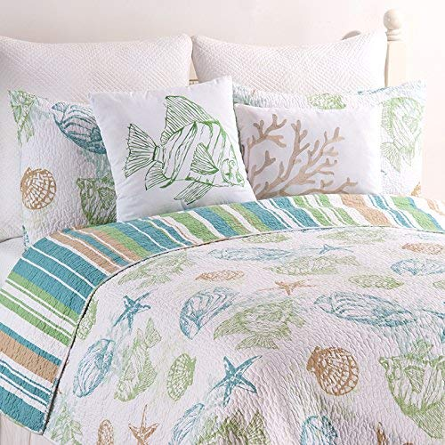 C/&F Home Reef Point Coastal Quilt Set Blue Full//Queen