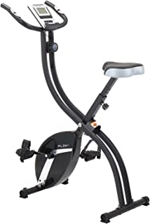 bh fitness carbon bike dual bicycle cycle cardio fitness gym workoutpleny foldable fitness exercise bike with 16 level resistance, hand pulse