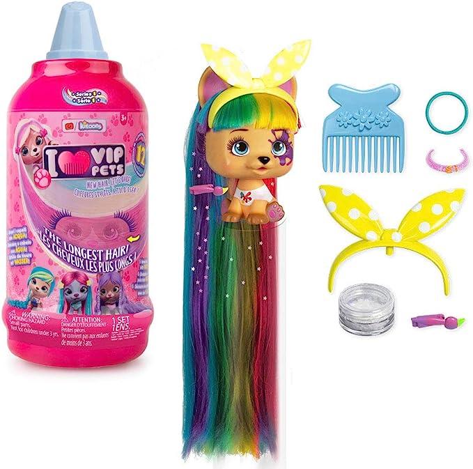 IMC Toys VIP Pets - Surprise Hair Reveal Doll - Series 1 Mousse Bottle, Multi
