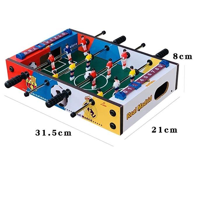 Futbolín de mesa Juegos Mini compacto de mesa Juego de fútbol ...