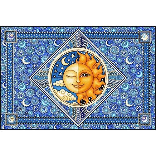 YOMIA 5D DIY Diamond Painting Full Drill Cross Stitching Embroidery Kits, Sun and Moon Arts Craft Rhinestone Mosaics Diamond Drill Painting Easy Paint by -