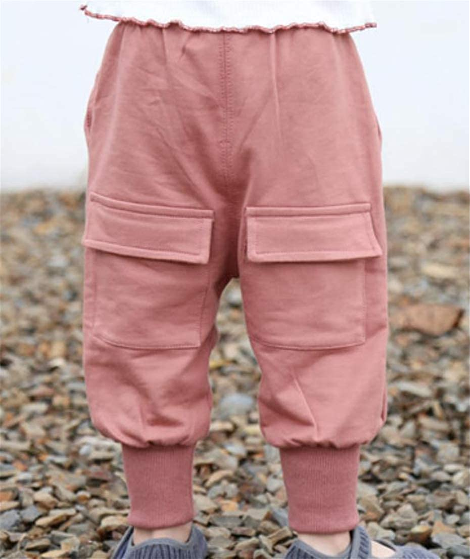 Cromoncent Girls and Boys Harem Joggers Trousers Kids Pants