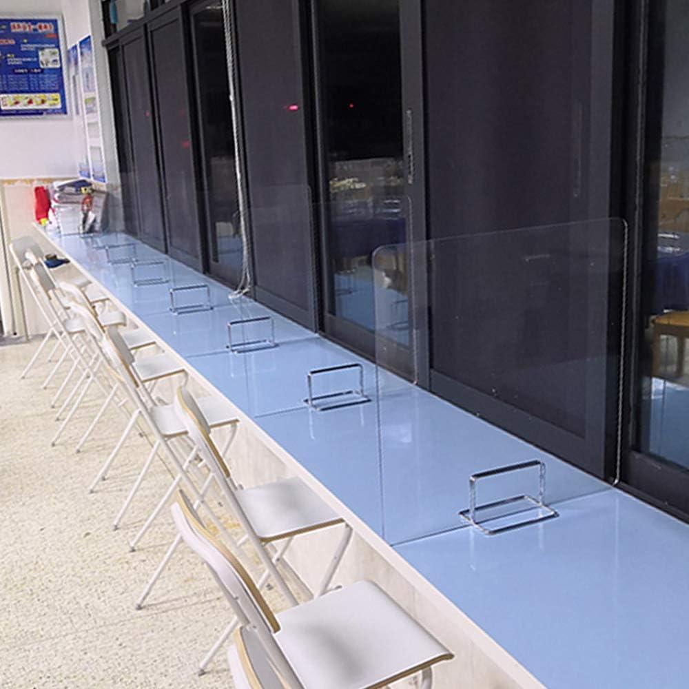 mesas separador para mostrador Snewvie Mampara de protecci/ón en metacrilato transparente 40x40cm oficinas y comercios