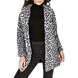 Cappotto Lungo Stampa Leopardo Donna,MEIBax Cappotto Caldo Invernale Moda Cappotto chimono Camicetta Tops,Manica Lunga,Capispalla Giacca Maglione Autunno