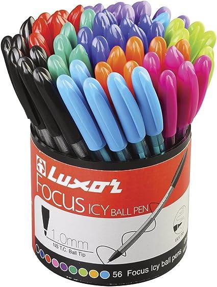 Luxor 1760/56DU - Pack de 56 bolígrafos: Amazon.es: Oficina y ...