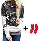 239c8a5d89a Simayixx Sweatshirts for Women Women Heart Wave Point Print Pocket Hoodie  Tops Loose Pullover Plus Size