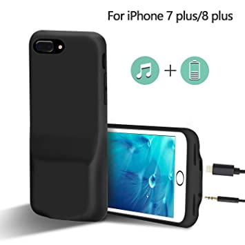 uk availability 775d9 696d2 Audio Adapter Case for iPhone 8/7 Plus, Meritcase iPhone 7/8 Plus Case with  Charge Port & 3.5mm Headphones Adapter, iPhone 8/7 Plus Adapter Splitter ...