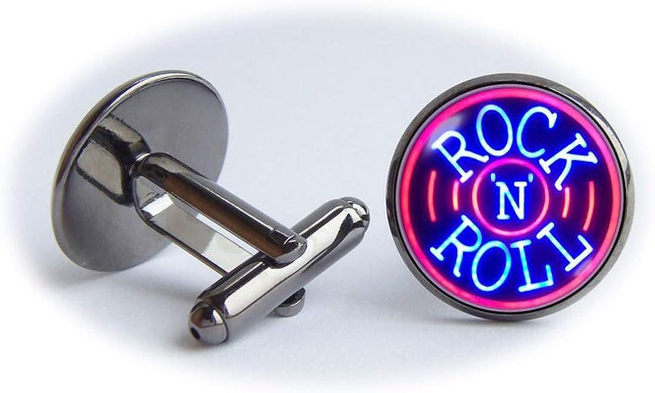 chen jian xin Rock N Roll Boutons de manchette Musique Bijoux Bijoux amateurs de musique Hommes