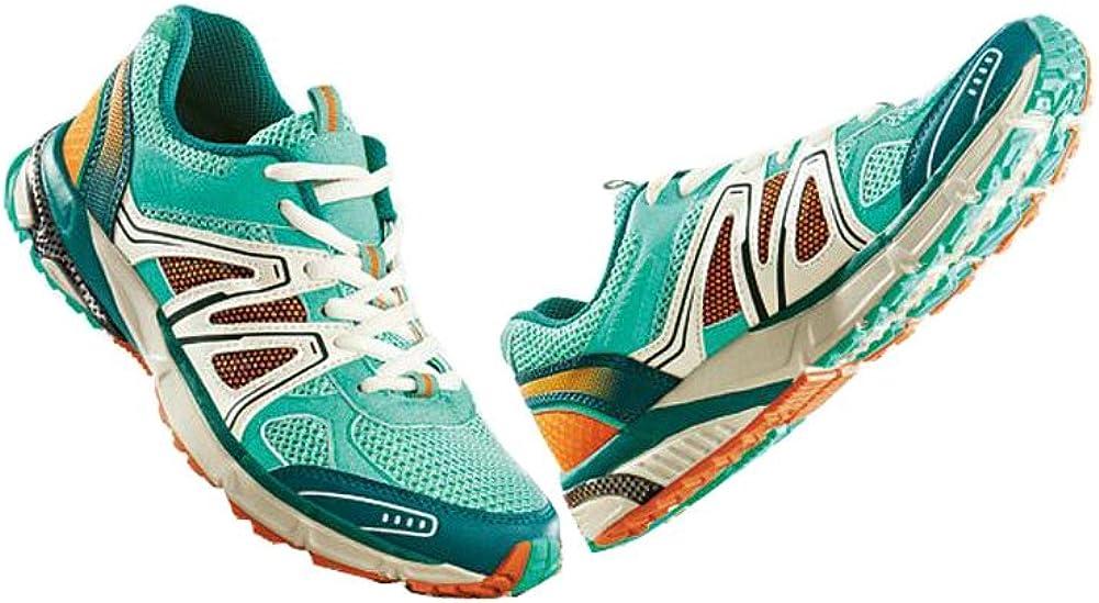 Crivit - Zapatillas de Nordic Walking para Mujer Turquesa Türkis-Orange-Weiß 37: Amazon.es: Zapatos y complementos