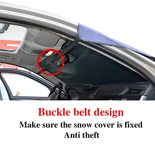 relanson Premium coche cubierta de nieve - Parabrisas la cubierta de nieve para automóviles - diseño protege parabrisas limpiaparabrisas y de nieve, hielo, ...