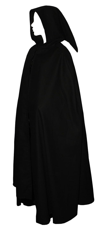 Kreativwunderwelt Umhang Umhang Umhang aus schwerer Baumwolle - 140cm - schwarz - spitze Gugel f436a9