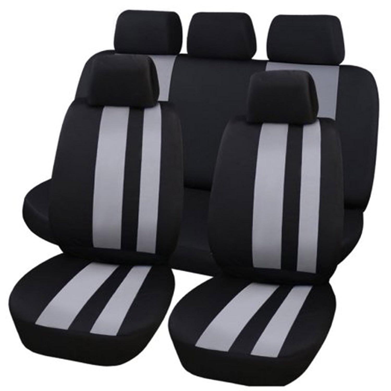 l/ínea vertical Fundas protectoras universales para asientos de coche de Hamimelon conjunto completo en gris
