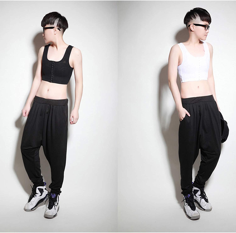 Queenral Lesbian Underwear Chest Binder Vest Tank Top Tomboy Short Corset