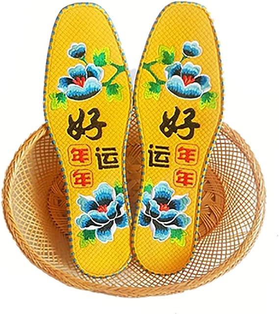 WSC El Sudor del algodón Absorbente y Desodorante Plantilla Bordado for Caminar, Correr, Deportes Plantillas (Color : A, tamaño : 24cm): Amazon.es: Hogar
