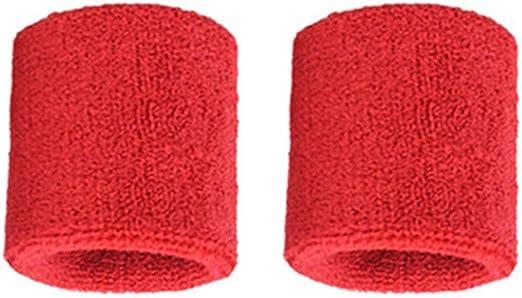 Heaviesk 1 par Muñequeras de algodón Puro Muñequeras Suaves ...