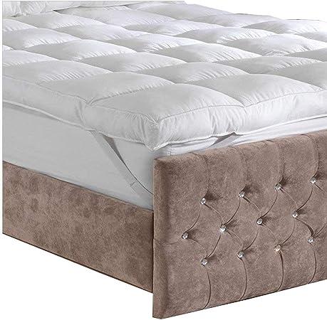 Funda de colchón de Lujo de algodón con Relleno de Fibra Hueca – Lancashire Ropa de Cama – Fabricado en el Reino Unido, Emperor: Amazon.es: Hogar