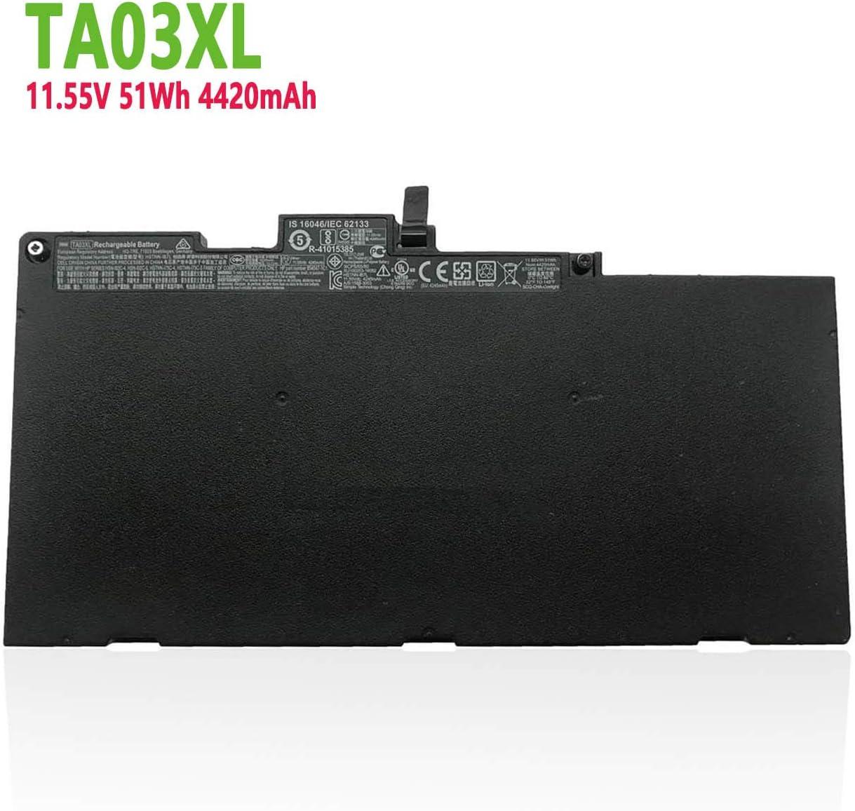 efohana TA03XL Laptop Battery Replacement for HP EliteBook 755 G4 840 G4 848 G4 850 G4 ZBook 14u G4 15u G4 Series Notebook HSTNN-IB7L TA03051XL HSTNN-LB7J 854047-421 11.55V 51Wh 4420mAh