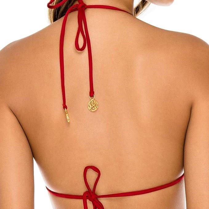Amazon.com: Luli Fama Torre de Oro - Bikini de triángulo ...