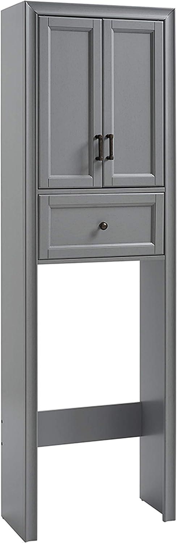Crosley Furniture Tara Space Saver Bathroom Cabinet, Vintage Gray