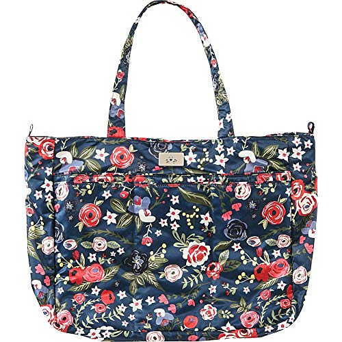 JuJuBe Tote Bag, Super Be | Lightweight, Everyday Large Capacity Shoulder Tote, Multifunction Baby Travel Bag for Moms and Dads | Blue Steel