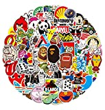 Bulk Stickers,Cool Stickers Pack, Colorful Waterproof Stickers for Flask, Laptop, Water Bottle, Stickers for Adults,Vinyl Stickers(100Pcs/Pack)