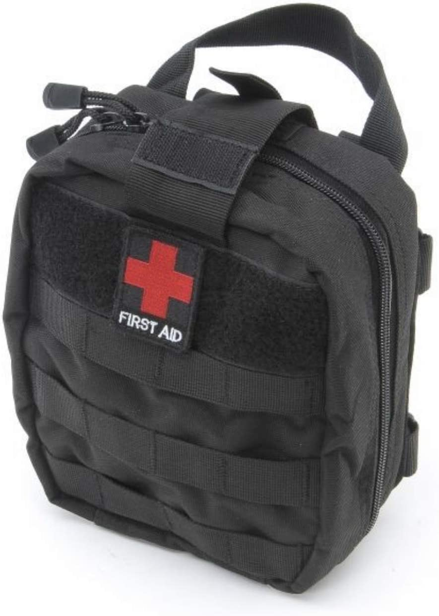 ICEBOXX First Aid Kit for Jeep Wrangler JL JK TJ CJ Roll Bar Survival Rescue Bag EDC Tactical Molle EMT Storage