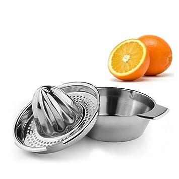 Acero Inoxidable Exprimidor Manual,Exprimidor de la prensa del jugo de limón,naranja,naraja agria con Exprimidor del tazón: Amazon.es: Hogar