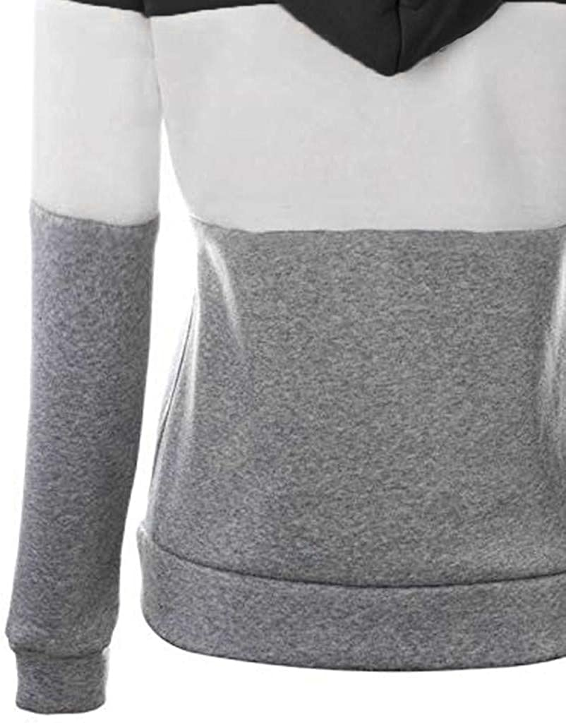 Covermason Sweat-Shirt d/écontract/é Femme Fille /à Manches Longues Hoodies Pullover /à Capuche zipp/é Vestes pour Femmes avec Poche Sweats /à Capuche