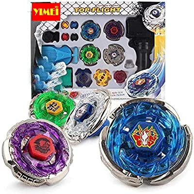YIMEI Battling Tops Metal Master Fusion Storm Pegasus/Flame Libra/Earth Eagle/ Lightning L-Drago Spinning Launcher Tops Toys Gift for Boys: Toys & Games