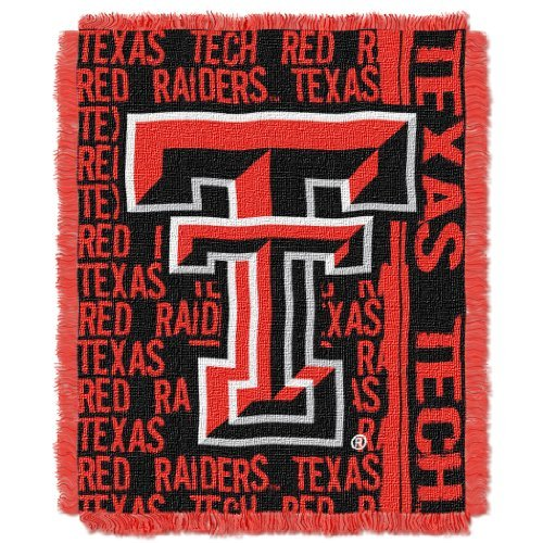 "The Northwest Company Officially Licensed NCAA Texas Tech Red Raiders Double Play Jacquard Throw Blanket, 48"" x 60"""