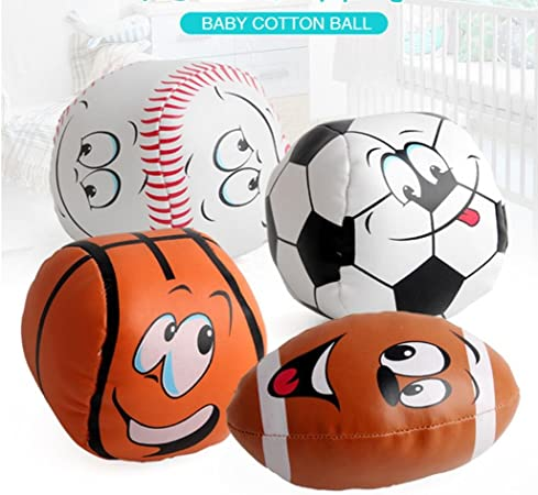 hkfv 4pc Baby Cotton Soft Balón de fútbol lächelnd Rugby ...