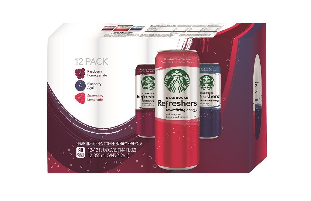 Starbucks Refreshers, 3 Flavor Variety Pack, 12 Ounce Slim Cans, 12 Pack by Starbucks (Image #3)