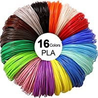 3D Pen PLA Filament Refills 1.75mm, 16 colors, 10 foot per color, total 160 foot by ningbo mike plastic products co.,ltd