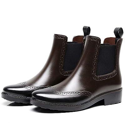 Yvmurain Women's Waterproof Boots Chelsea Rain Boots Bullock Bulls Anti-Skid Boots | Rain Footwear