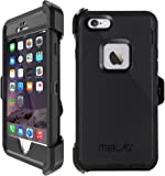 iPhone 5s Case, iPhone 5 Case Shockproof Belt Clip Kickstand Case with Built-in Screen Protector for iPhone 5/5S/SE - Black
