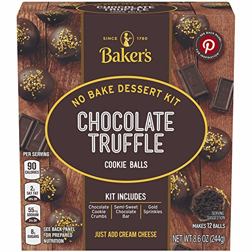 Baker's Cookie Ball Dessert Kits, Chocolate Truffle, 8.6 Ounce (Pack of 6) ()