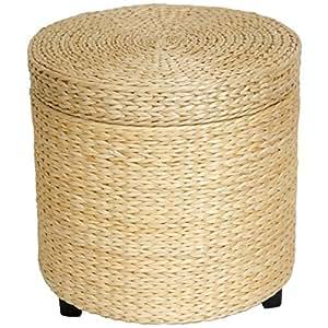 ... Storage Ottomans  sc 1 st  Amazon.com & Amazon.com: Oriental Furniture Rush Grass Storage Footstool ... islam-shia.org