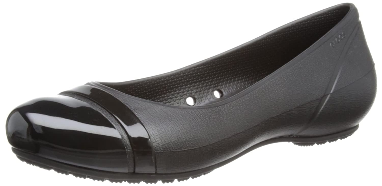 crocs Women's Cap Toe Flat
